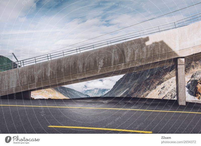 Rettenbachgletscher | Urbanismus wandern Umwelt Natur Landschaft Himmel Alpen Berge u. Gebirge Gletscher Straße modern Stadt Klima Surrealismus Umweltschutz