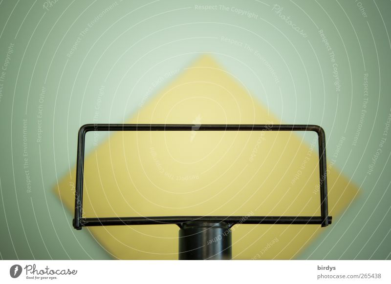 Rahmenbedingungen Papier außergewöhnlich einzigartig positiv gelb schwarz ästhetisch Perspektive Ständer Rechteck Quadrat Hintergrundbeleuchtung mint Symmetrie