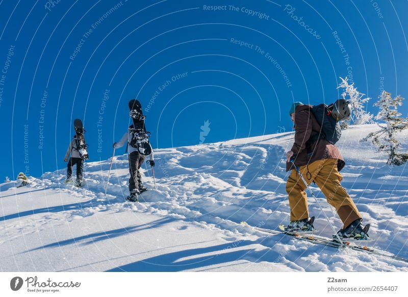 Tourengeher | Freerider Freizeit & Hobby Ausflug Abenteuer Winter Berge u. Gebirge wandern Wintersport Skifahren Snowboard maskulin 3 Mensch Natur Landschaft