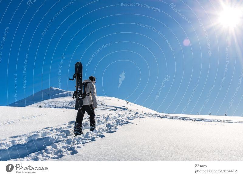 Tourengeher | Freerider Freizeit & Hobby Ferien & Urlaub & Reisen Abenteuer Freiheit Winterurlaub Wintersport Skifahren Snowboard Mensch Natur Landschaft Sonne