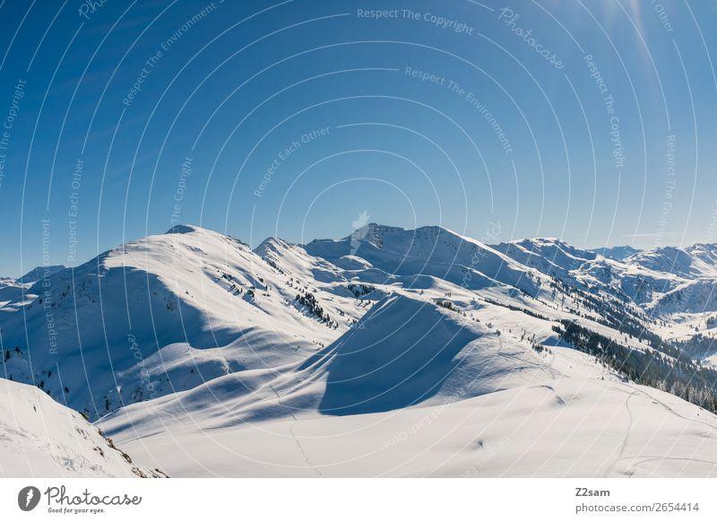 Winterpanorama | Tirol Natur Landschaft Himmel Schönes Wetter Schnee Alpen Berge u. Gebirge ästhetisch gigantisch hoch kalt nachhaltig natürlich blau Idylle