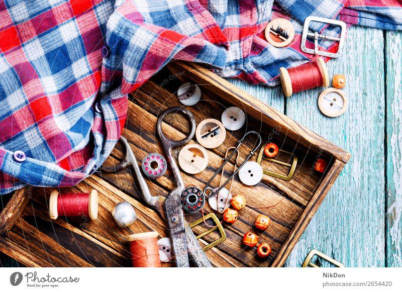 Werkzeuge für Handarbeit Schaltfläche Herstellung Faser Nähen Nadel Handwerk Textil nähen Stoff handgefertigt Spule Garnspulen Bekleidung Damenschneiderei
