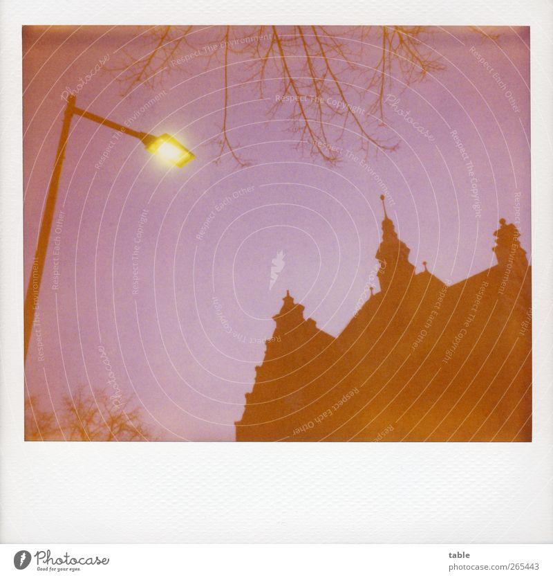 Bonsoir . . . Straßenbeleuchtung Umwelt Himmel Nachthimmel Sonnenaufgang Sonnenuntergang Herbst Winter Baum Zweige u. Äste Berlin Friedrichshagen Haus Rathaus
