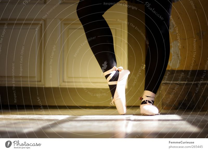 Ballet VII. Künstler Tanzen Tänzer Balletttänzer ästhetisch Bewegung Konzentration Präzision Sport-Training Körperhaltung Ballettschuhe Strumpfhose schwarz rosa