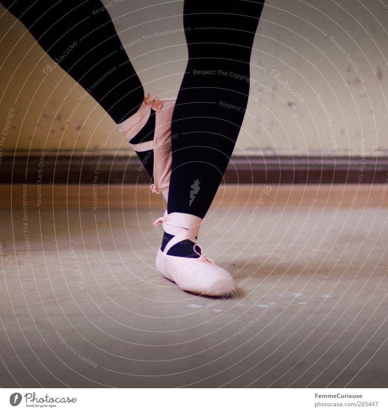 Ballet VIII. schwarz Bewegung Tanzen rosa ästhetisch stehen Körperhaltung Gleichgewicht Balletttänzer Sport-Training Strumpfhose Tänzer Künstler üben