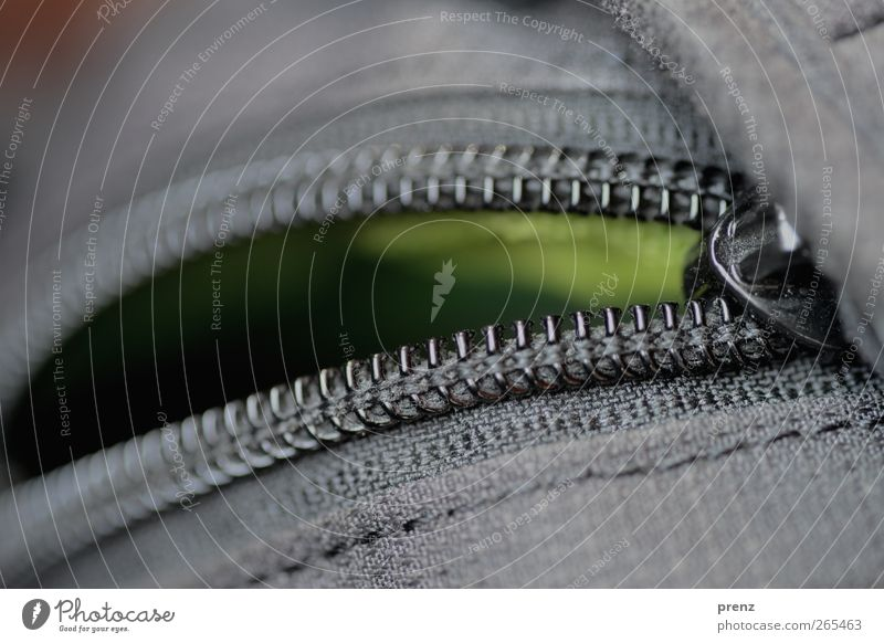 offen für ... grün schwarz grau offen Stoff Kunststoff Tasche Staub Naht staubig Reißverschluss