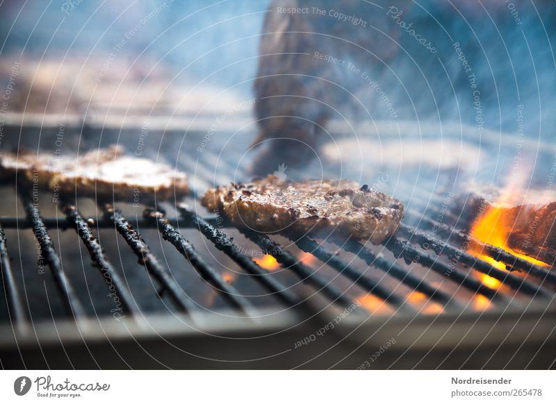 Fett Lebensmittel Fleisch Übergewicht Gastronomie Grill Rauch außergewöhnlich bedrohlich saftig Völlerei ungesund Cholesterin Flamme Feuer Steak Grillen