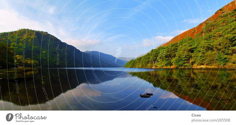 Glendalough - A Look In The Mirror Himmel Natur Baum Ferien & Urlaub & Reisen Sommer Wolken Wald Umwelt Landschaft See Luft Horizont frei Europa Hügel Schönes Wetter