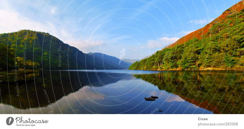 Glendalough - A Look In The Mirror Himmel Natur Baum Ferien & Urlaub & Reisen Sommer Wolken Wald Umwelt Landschaft See Luft Horizont frei Europa Hügel