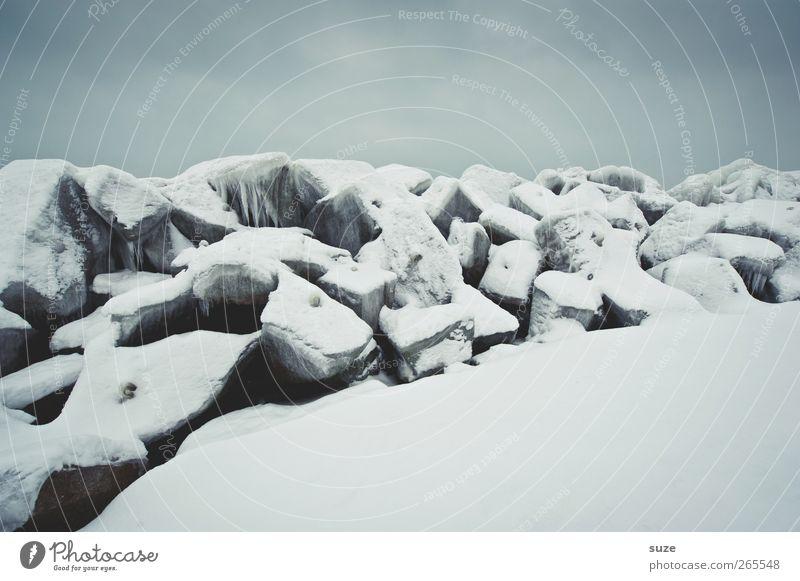 Wintergrenze Himmel Natur weiß Landschaft Umwelt dunkel kalt Schnee grau Stein Luft Eis Wetter Klima authentisch