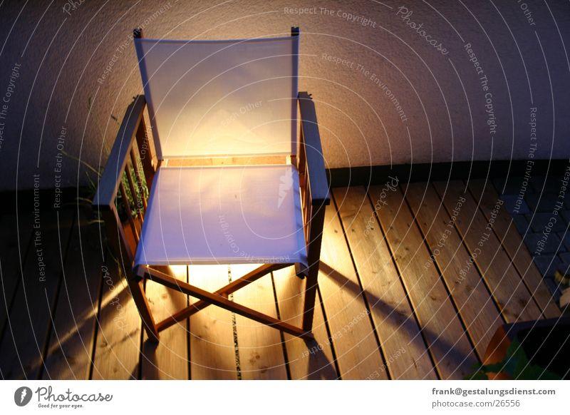 Feuerstuhl Terrasse Licht Holz Freizeit & Hobby Haushalt Möbel Stuhl Campingstuhl Abend Lampe Schatten