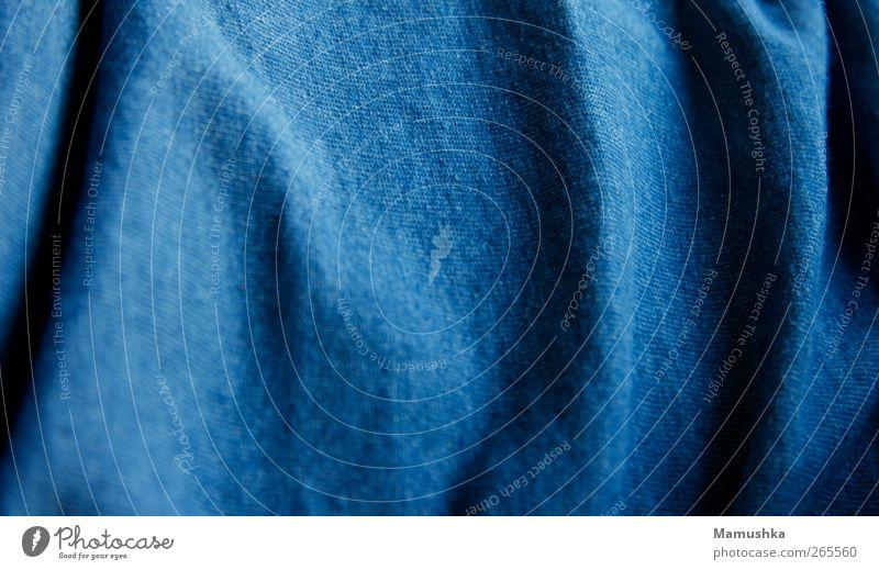 Cotton Mode Bekleidung T-Shirt Stoff Baumwolle kuschlig nah modern natürlich Sauberkeit weich blau Farbfoto Nahaufnahme Detailaufnahme Makroaufnahme