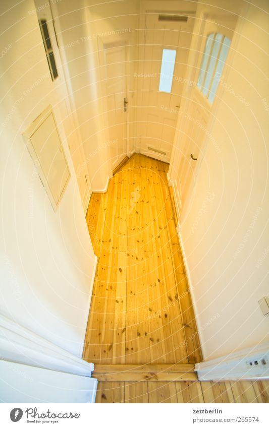 Flur Häusliches Leben Wohnung Hausbau Renovieren Innenarchitektur Bauwerk Gebäude Architektur Mauer Wand Fenster Tür Holz weiß Altbau boden dielen Haushalt