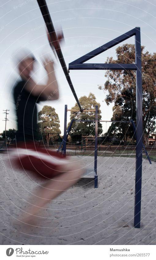 Speed Mensch Mann Ferien & Urlaub & Reisen Sommer Freude Erwachsene Spielen Bewegung Sand Glück Luft lustig Gesundheit fliegen Freizeit & Hobby wild