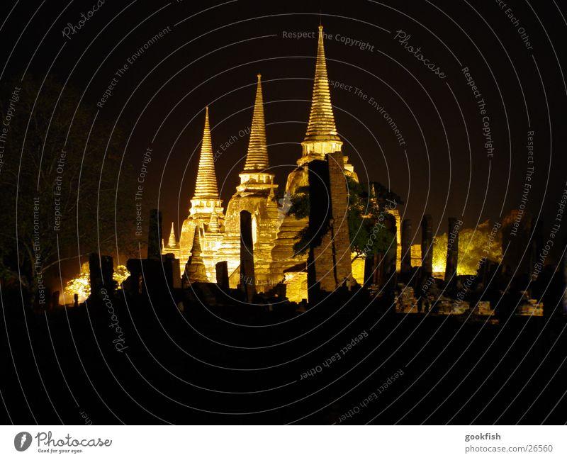 Tempel_2 Abend 3 Thailand Licht Los Angeles ayuttaya Strahlung