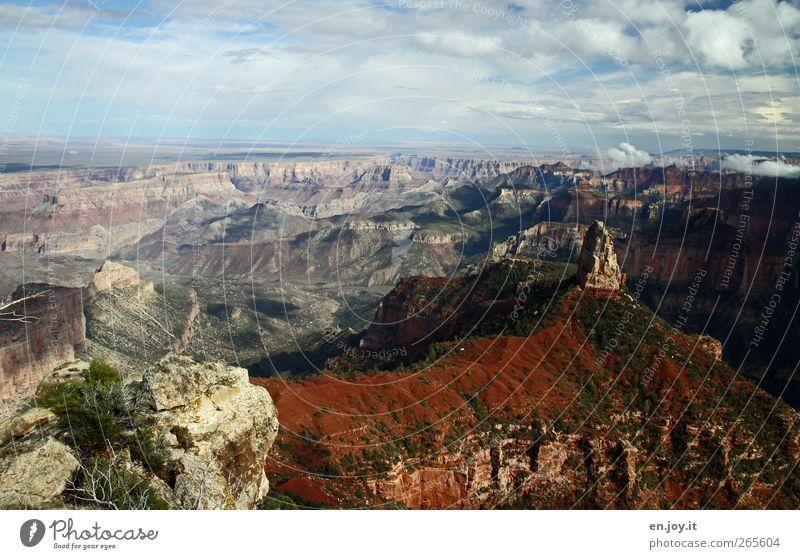 Spitzenaussicht Natur blau Ferien & Urlaub & Reisen grün weiß Landschaft Ferne braun Horizont außergewöhnlich Tourismus Ausflug Abenteuer Vergänglichkeit USA