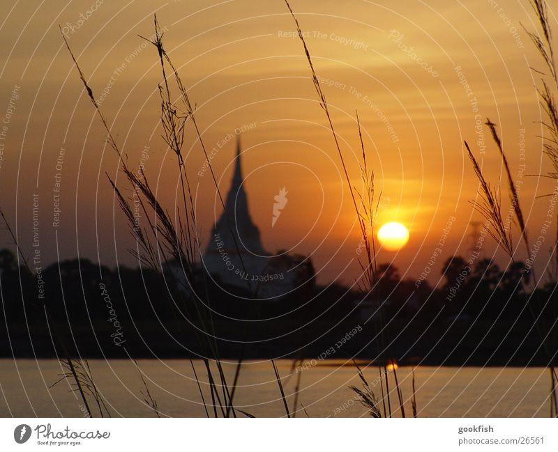 Sonnentempel Tempel Thailand Erfolg Abend Angkor Wat ayuttaya Sonnenuntergang