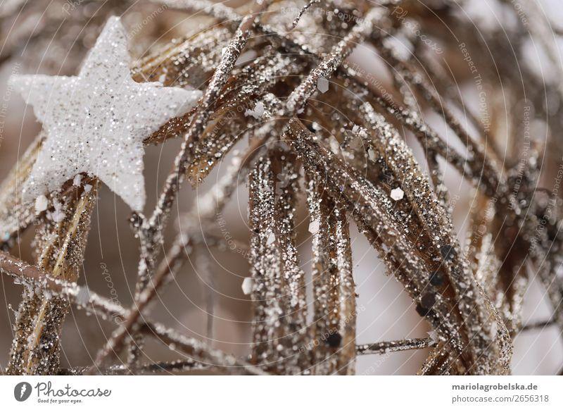 Weihnachtskugel mit Silber Stern Feste & Feiern Weihnachten & Advent Silvester u. Neujahr Dekoration & Verzierung Holz Kugel Design Freizeit & Hobby Freude