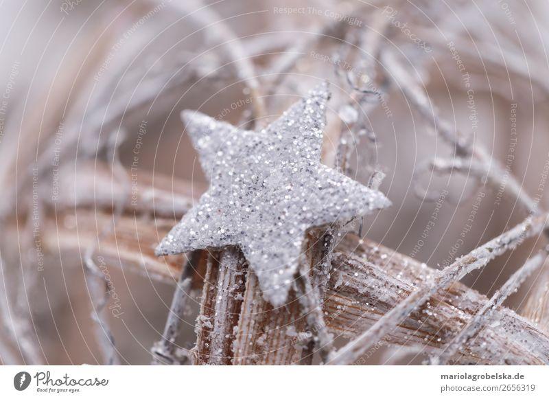 Weinachten Dekoration Feste & Feiern Weihnachten & Advent Silvester u. Neujahr Dekoration & Verzierung Holz Kugel Freizeit & Hobby Freude Stern (Symbol) silber