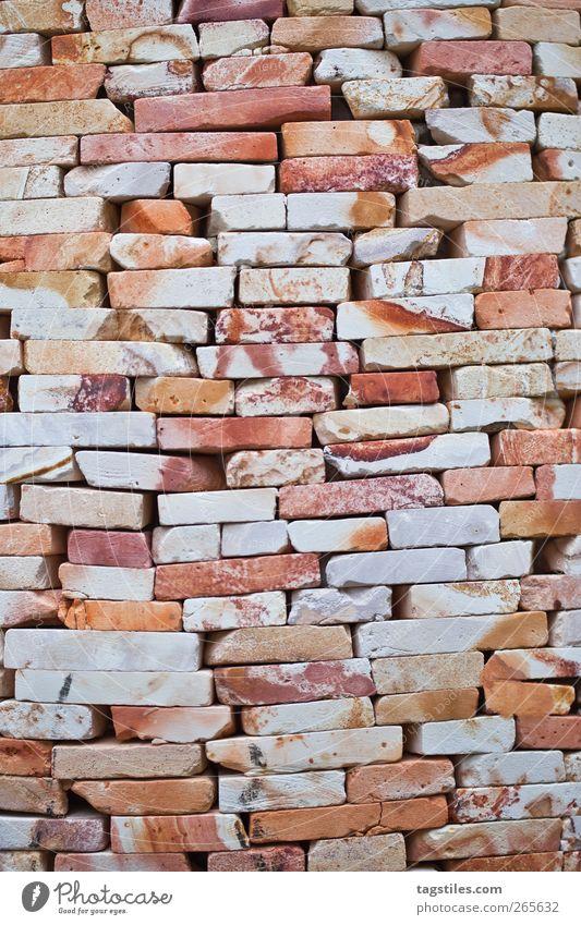 WALL alt Wand Stein Mauer orange Hintergrundbild geschlossen verfallen Backstein Handwerk bauen blockieren Backsteinwand Maurer Mauerstein Steinmauer