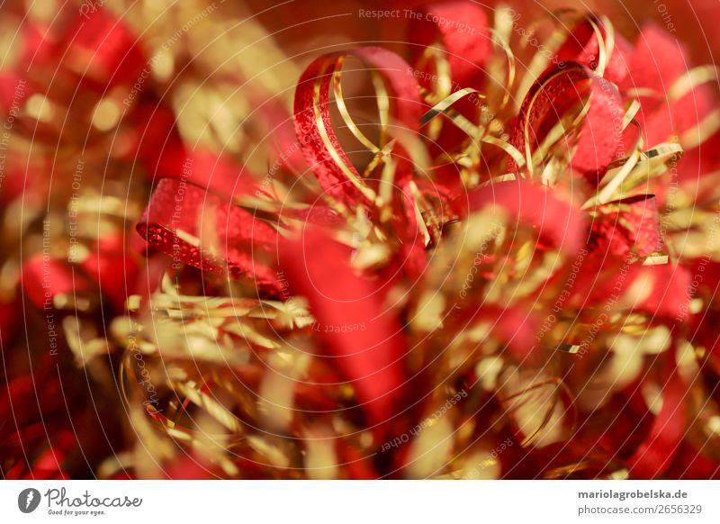 Christmas decoration /bunt rot-gold Feste & Feiern Valentinstag Muttertag Karneval Weihnachten & Advent Silvester u. Neujahr Hochzeit Geburtstag Papier