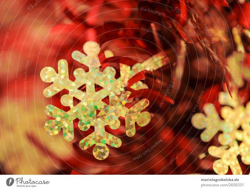 Christmas decoration /bunt rot-gold Feste & Feiern Valentinstag Karneval Weihnachten & Advent Silvester u. Neujahr Dekoration & Verzierung Schleife Kitsch