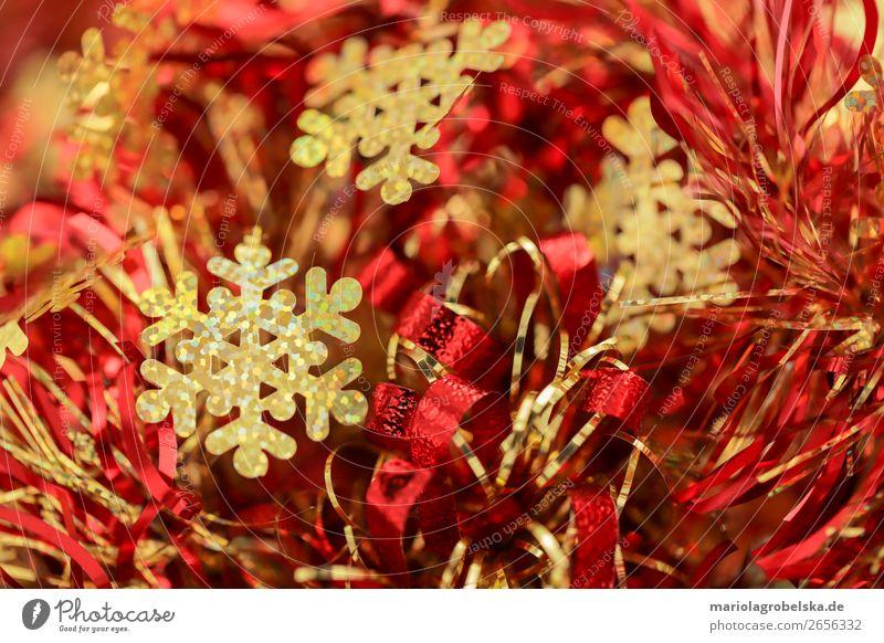 Christmas Dekoration / rot-gold Party Feste & Feiern Valentinstag Karneval Weihnachten & Advent Silvester u. Neujahr Geburtstag Papier Schleife Streifen Schnur