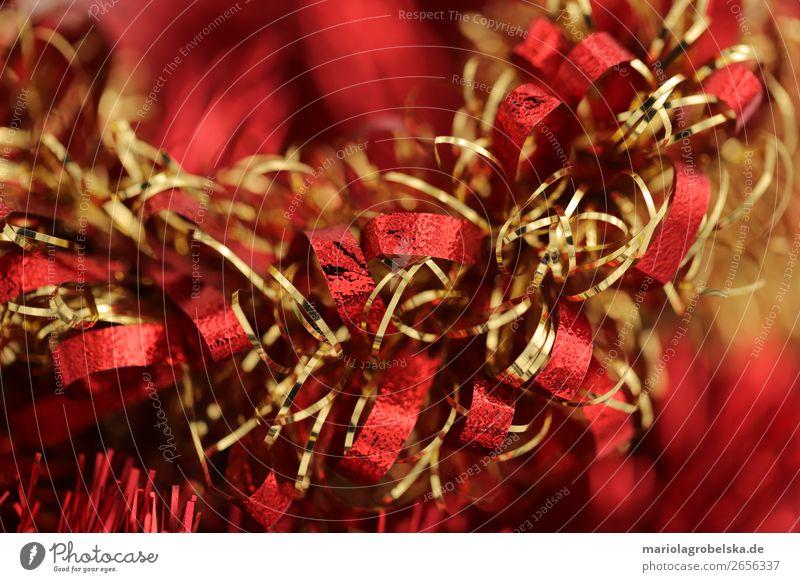 Christmas decoration /bunt rot-gold Freude Glück Dekoration & Verzierung Party Feste & Feiern Valentinstag Weihnachten & Advent Silvester u. Neujahr Papier