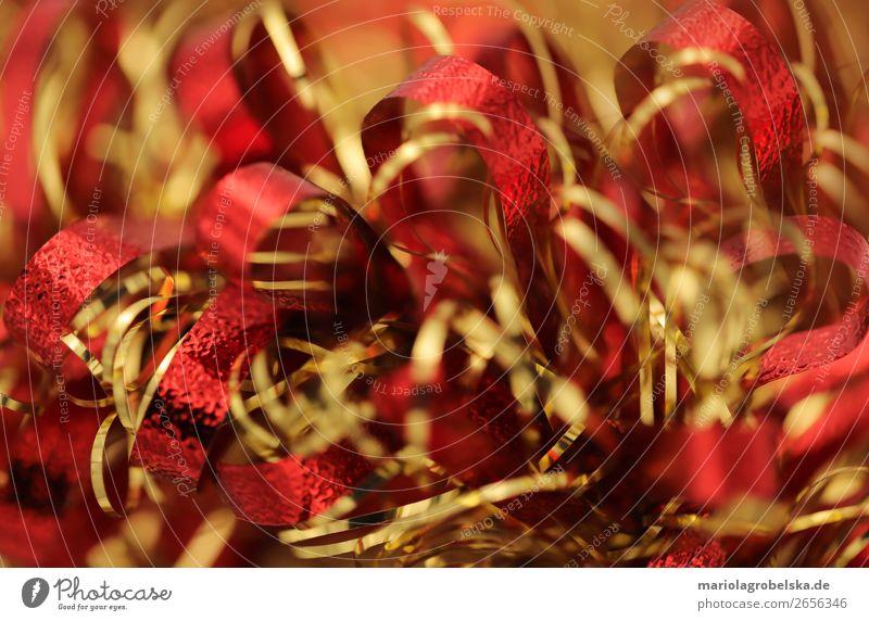 Christmas decoration /bunt rot-gold Glück Dekoration & Verzierung Feste & Feiern Valentinstag Karneval Weihnachten & Advent Silvester u. Neujahr Papier