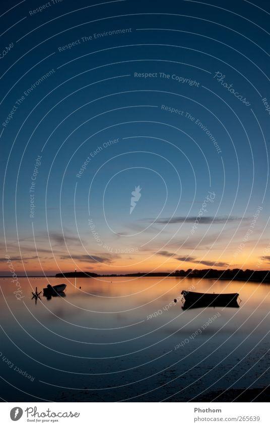 absolute Entspannung 2 Natur blau Wasser Ferien & Urlaub & Reisen Meer Sommer ruhig Erholung Landschaft Küste Glück Horizont Zufriedenheit gold Tourismus