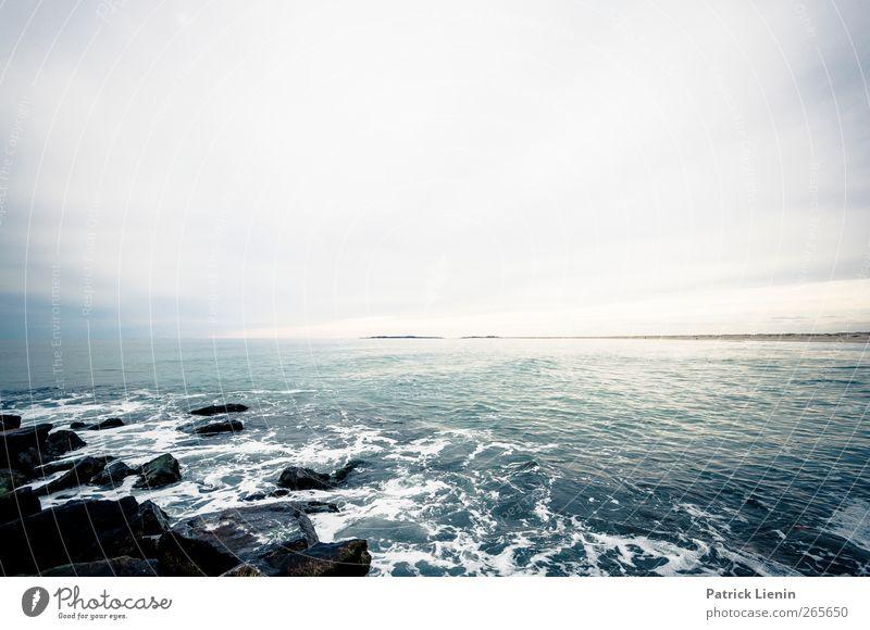 right right now now Himmel Natur Wasser Meer Wolken Einsamkeit Ferne Erholung Umwelt Landschaft kalt Küste Stein Stimmung Wetter Wellen