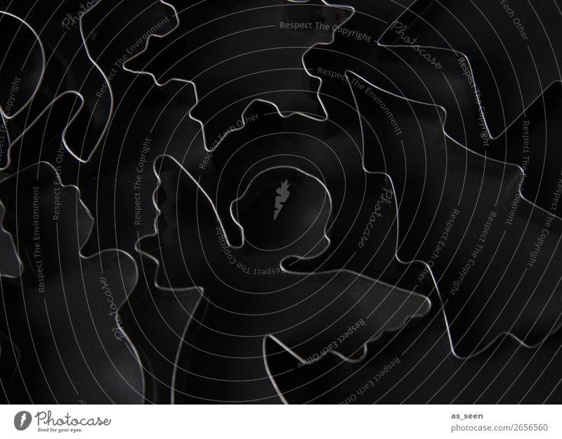 Black Christmas Ausstechform Backform Lifestyle Stil Design harmonisch Weihnachten & Advent Metall Engel Schneemann Tanne Eiskristall Schaukelpferd glänzend