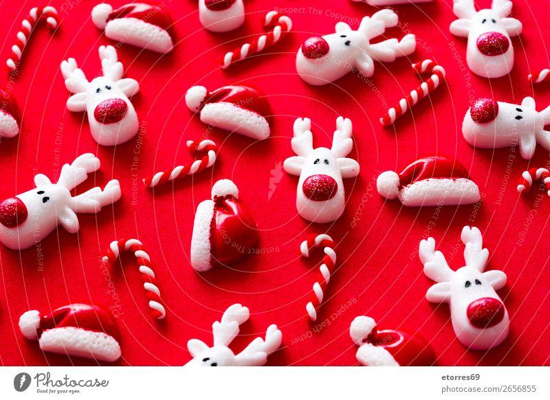 Weihnachtsornamentmuster Weihnachten & Advent Ornament Muster rot Hintergrund neutral Jahreszeiten Saison Ferien & Urlaub & Reisen Feste & Feiern Dezember