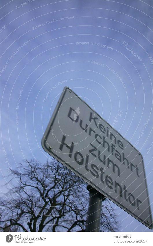 no way. Straße Wege & Pfade Schilder & Markierungen Durchgang