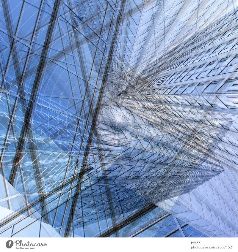 Großstadtdschungel Kunst Design Hochhaus Zukunft Doppelbelichtung bizarr