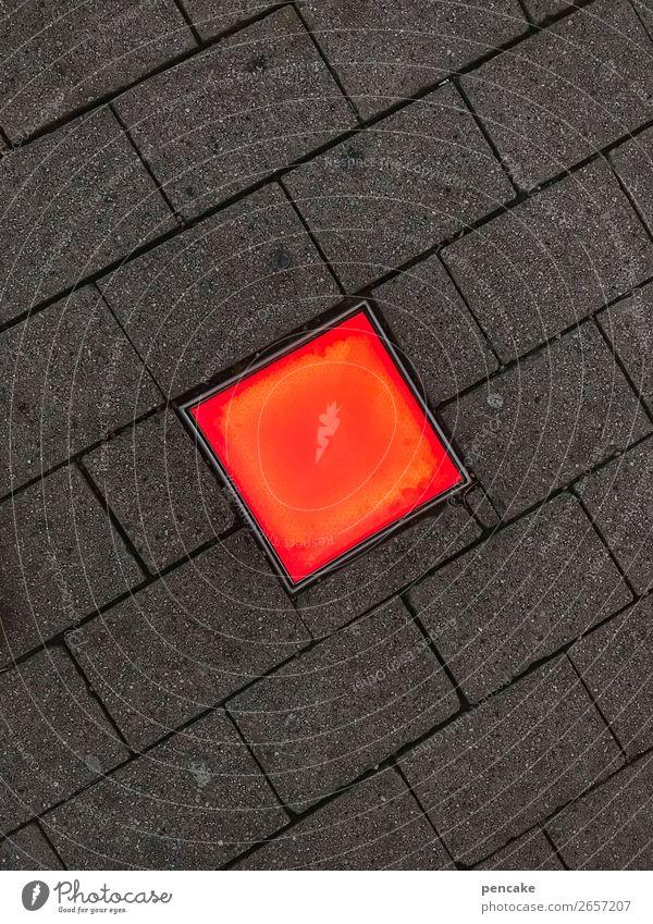 überraschung | rotlicht4tel Design Lampe Nachtleben Stadtzentrum Dekoration & Verzierung Beton eckig heiß verrückt Wege & Pfade Fußgängerzone Friedrichshafen