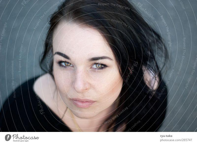 die becci die Mensch Jugendliche schön ruhig Erwachsene Auge kalt feminin träumen glänzend Junge Frau 18-30 Jahre Neugier rein nah Gelassenheit
