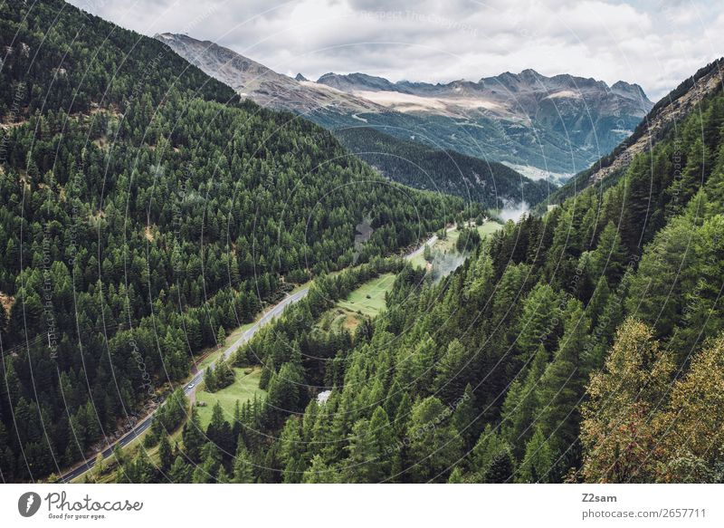 Zwieselstein | E5 Himmel Natur grün Landschaft Baum Erholung Wolken Wald Ferne Berge u. Gebirge Herbst Umwelt natürlich wandern Idylle hoch