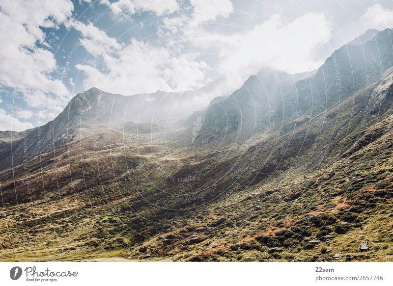 Timmelsjoch | Südtirol Abenteuer wandern Umwelt Natur Landschaft Himmel Wolken Sonne Herbst Schönes Wetter Alpen Berge u. Gebirge gigantisch nachhaltig