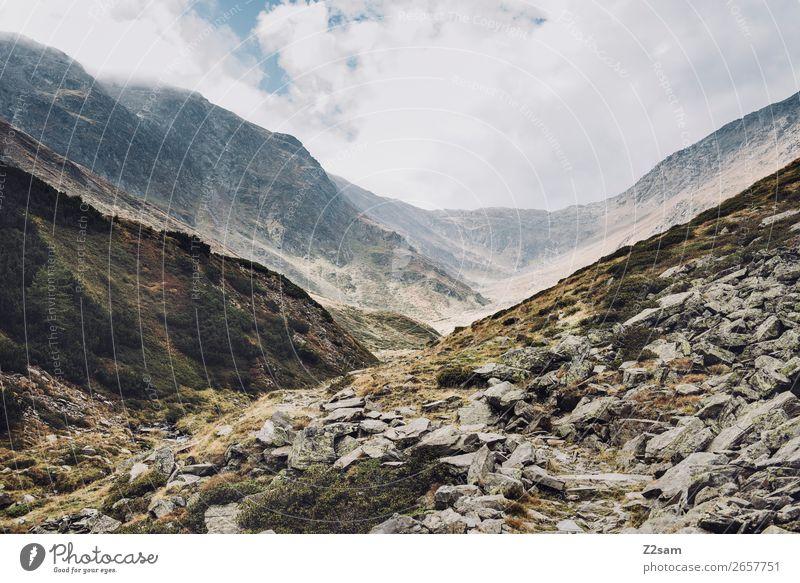 Timmelstal | Südtirol | E5 Abenteuer wandern Natur Landschaft Wolken Herbst Schönes Wetter Nebel Alpen Berge u. Gebirge gigantisch hoch natürlich Einsamkeit