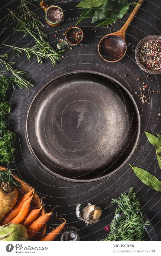 Lebensmittel, Kochen und gesunde Ernährung Gemüse Kräuter & Gewürze Bioprodukte Teller Löffel Stil Design Gesunde Ernährung Hintergrundbild Speise Zutaten Essen