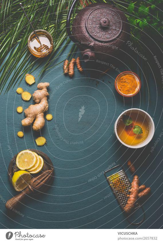 Kurkuma Tee Zutaten Lebensmittel Kräuter & Gewürze Ernährung Frühstück Bioprodukte Vegetarische Ernährung Diät Getränk Heißgetränk Geschirr Tasse Stil Design
