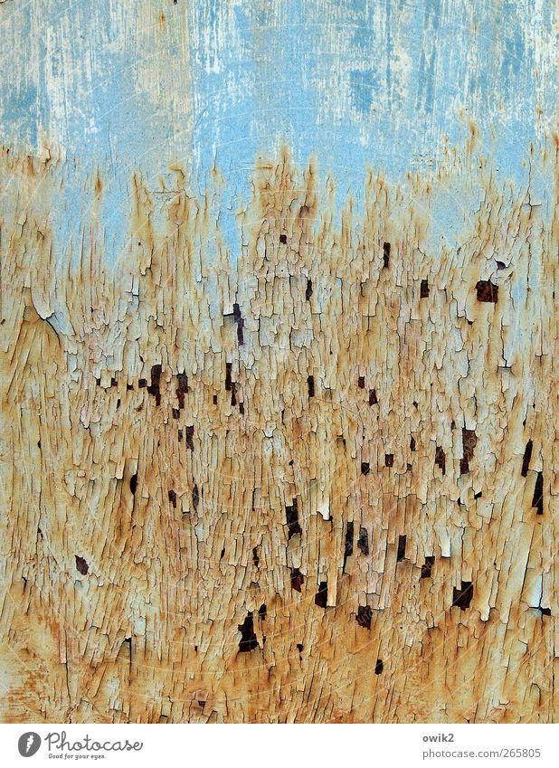 Oberschicht blau alt Farbe Farbstoff träumen Kunst orange Zufriedenheit Design modern Netzwerk Wandel & Veränderung Vergänglichkeit geheimnisvoll verfallen