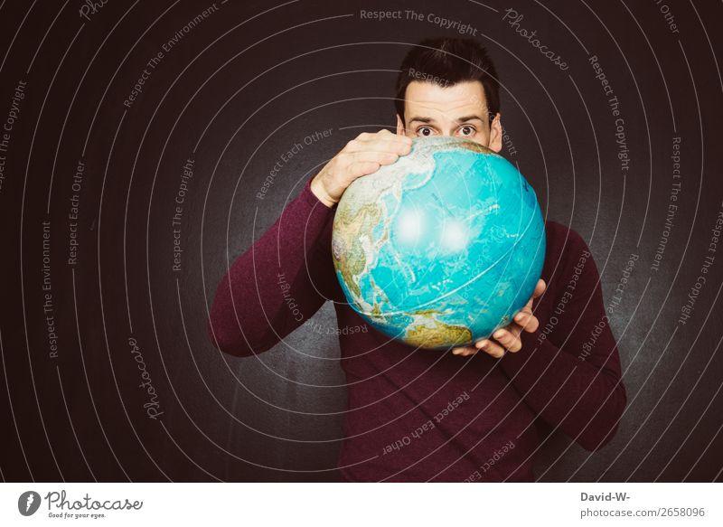 Welt III Lifestyle Mensch maskulin Junger Mann Jugendliche Erwachsene Leben 1 Kunst Künstler Kunstwerk Umwelt Natur Klima Klimawandel beobachten