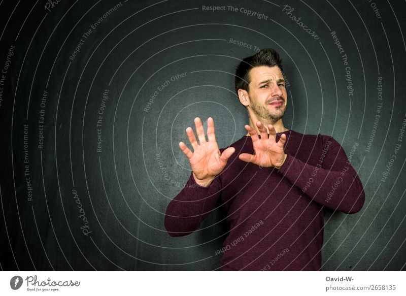 nene, lass mal lieber Bildung lernen Studium Student Business Mensch maskulin Junger Mann Jugendliche Erwachsene Leben Gesicht Hand Finger 1 Kunst Künstler