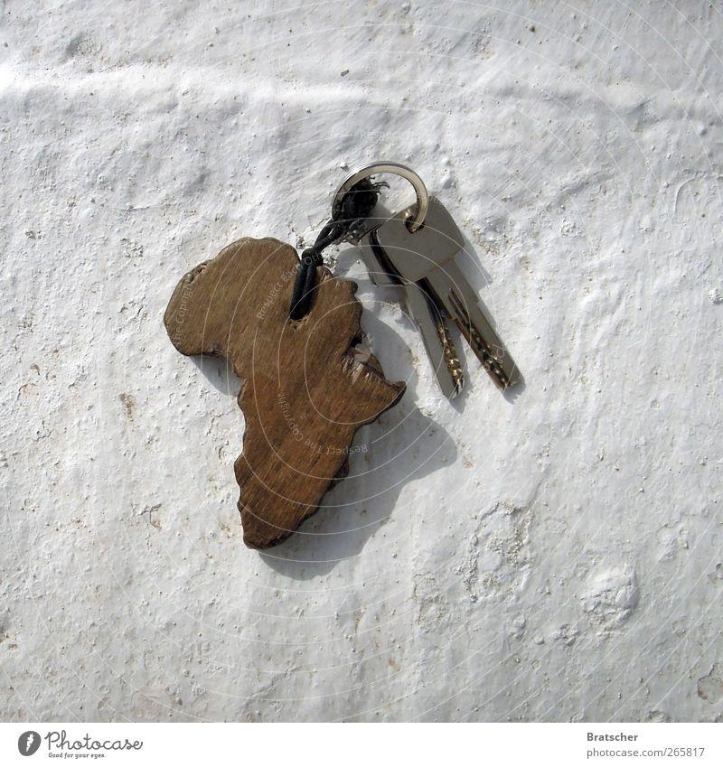 Afrika Mensch weiß Wand Holz Seil Hotel Schlüssel Erinnerung Schlüsselanhänger Kontinente Dritte Welt