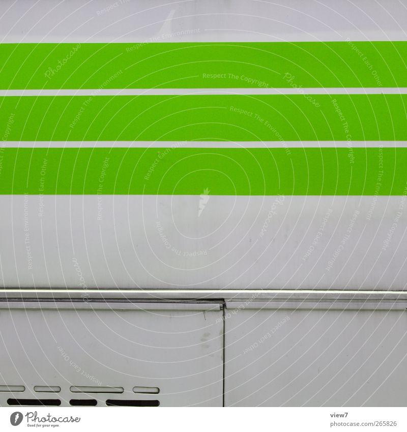 greenViehcher alt grün Farbe Wand oben Mauer Metall Linie Gesundheit Fassade Ordnung frei Verkehr Design Beginn modern