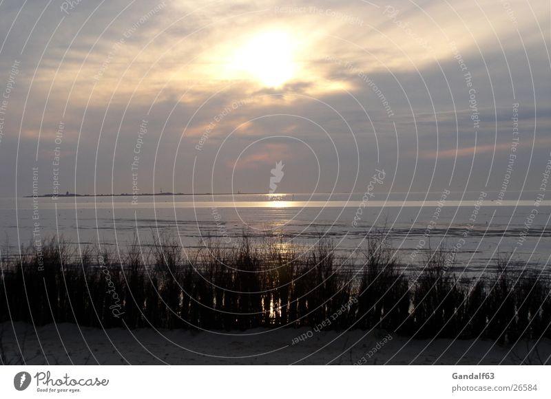 Cuxiland-Impressionen 1 Strand Sonnenuntergang Cuxhaven Romantik Licht Meer Europa Nordsee