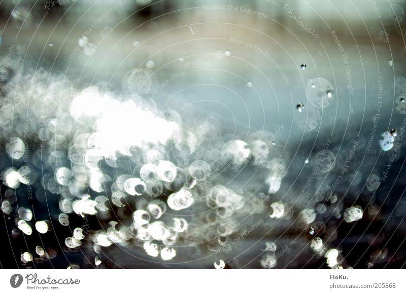 schwebende tropfen Natur Wasser Wassertropfen Sonnenlicht Regen ästhetisch Flüssigkeit schön Kitsch nass rund blau Gefühle Stimmung feucht platschen Farbfoto