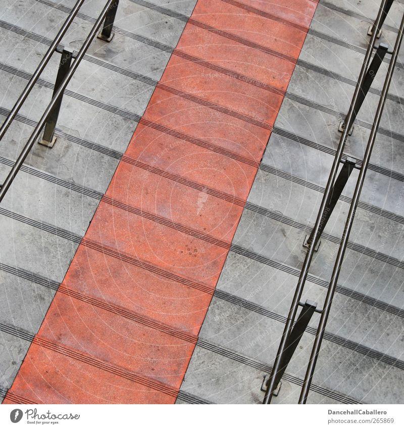 CA l red carpet Menschenleer Bauwerk Treppe Verkehrswege Fußgänger Wege & Pfade Stein Beton Metall Bekanntheit reich schön grau rot Reichtum Mittelpunkt